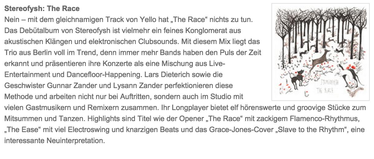 album review - the race